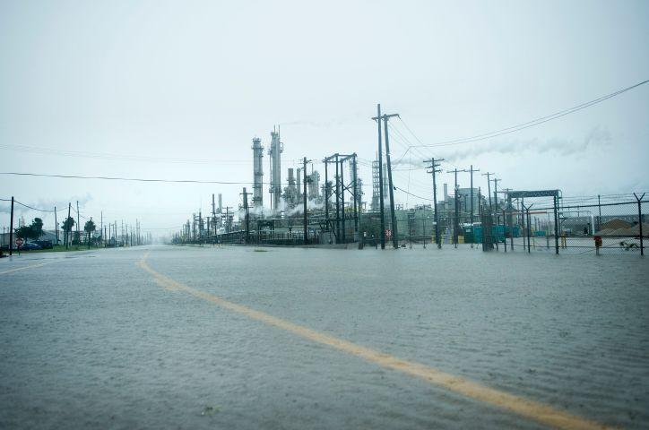 Risultati immagini per harvey hurricane flooded refineries