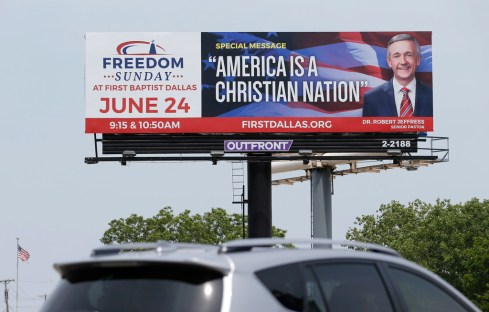Image result for images of america is a christian nation billboard