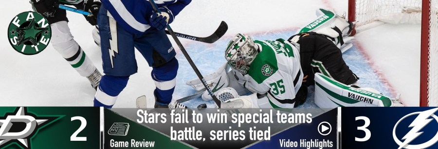 Stars fail to win special teams battle, series tied