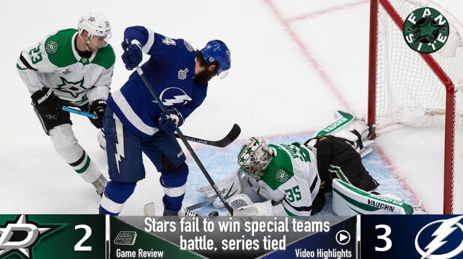 Dallas Stars vs Tampa Bay lightning, game 2