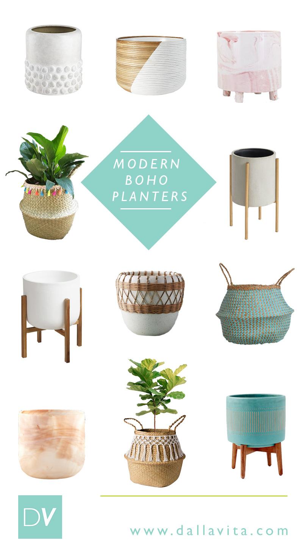 Modern Boho Planters - Dalla Vita