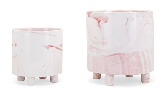 Pink Marbled Planter