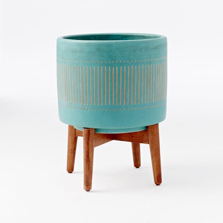Wood Leg Mod Pot