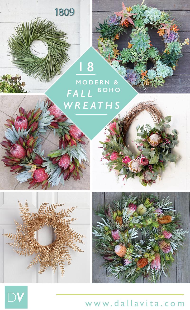 18 Modern And Boho Fall Wreath Ideas Dalla Vita
