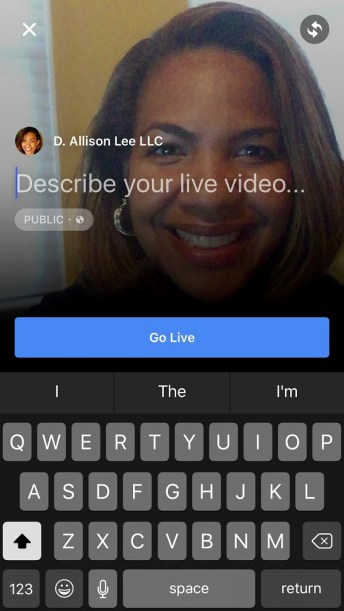 Are you using Facebook Live?   DAllisonLee.com