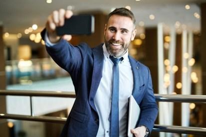 Entrepreneur using live stream video
