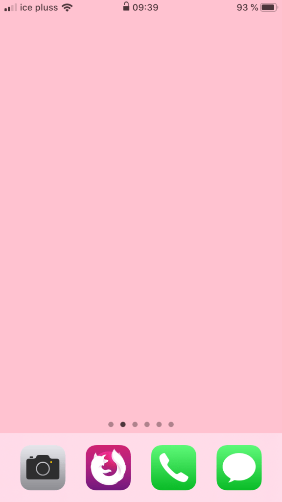 Pink home screen