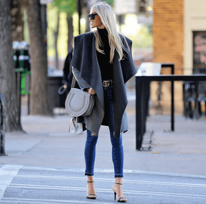 Macy Stucke wearing a gorgeous coat