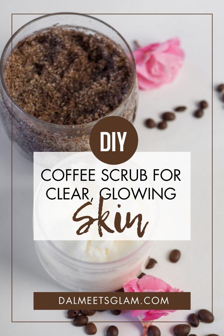 DIY Coffee Body Scrub with Sugar and Coconut Oil For Clear, Glowing Skin