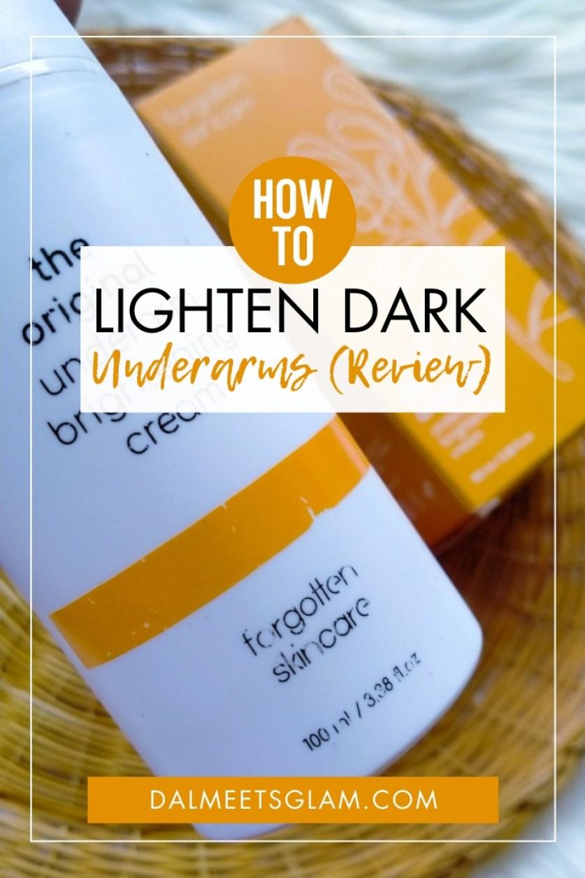 An Underarm Care Routine To Lighten Dark Underarms At Home