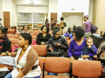 The attendees were excited to learn about natural hair products and styling tips.