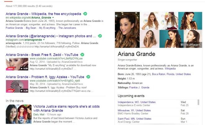 Ariana Grande Google