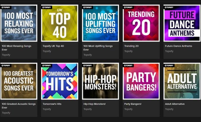 topsify playlists spotify