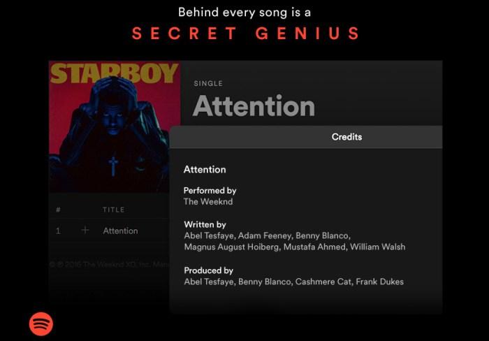 spotify artist credit