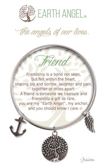 """Earth Angel Charm Bracelet """"Friend"""""""