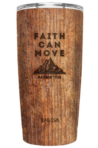 Kerusso 20 oz Stainless Steel Tumbler Faith Can Move Mountains