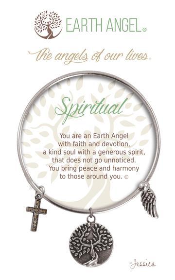 "Earth Angel Charm Bracelet ""Spiritual"" Antique Silver"