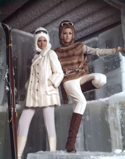 60s fur coats retro ski wear womens