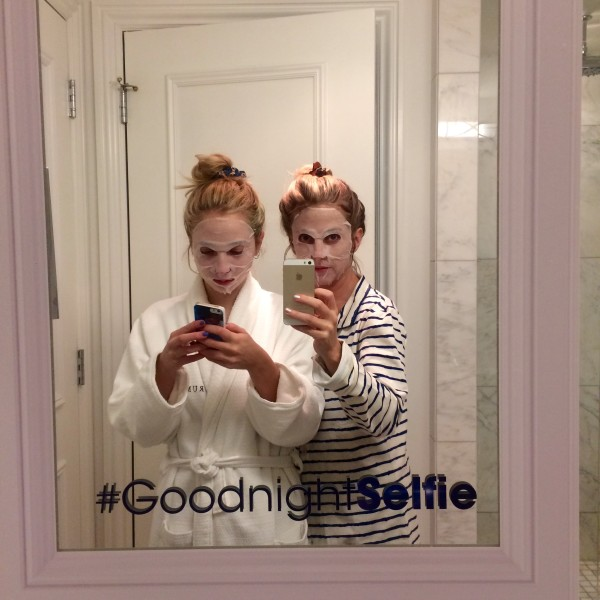 Biddy & I had a Garnier slumber party in their AWESOME Garnier Dark Spot Treatment Masks. Review to come. Get some.