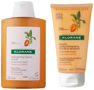 Klorane Mango Butter shampoo conditioner
