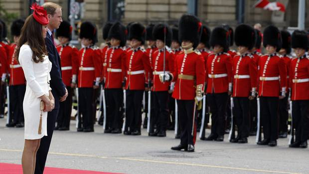 The Duke & Duchess of Cambridge, William and Kate, and the Royal Guard, Parliament Hill