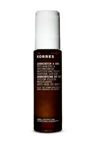 korres quercetin & oak antiageing mattifying fluid texture lotion