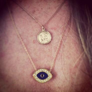 evil eye necklace Gage Huntley