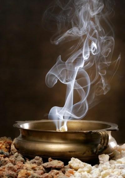 frankincense incense smoke