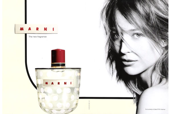 marni perfume ad with bottle