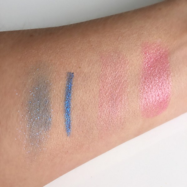 Chanel Fervent Blue liner_ Rouge Coco Shine Mighty swatches dalybeauty