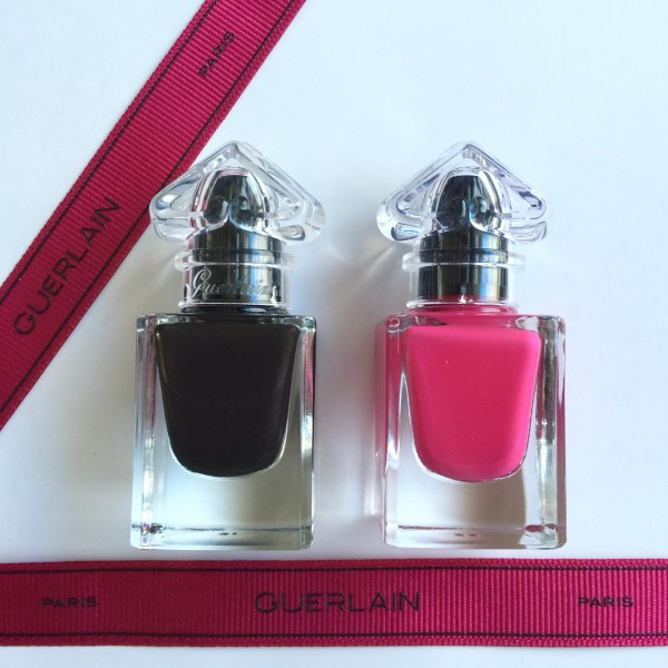 Guerlain Petite Robe Noire Black Perfecto and Pink Tie polish