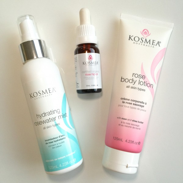 Kosmea Rosehip Oil, Hydrating Rosewater Mist, Rose Body Lotion review