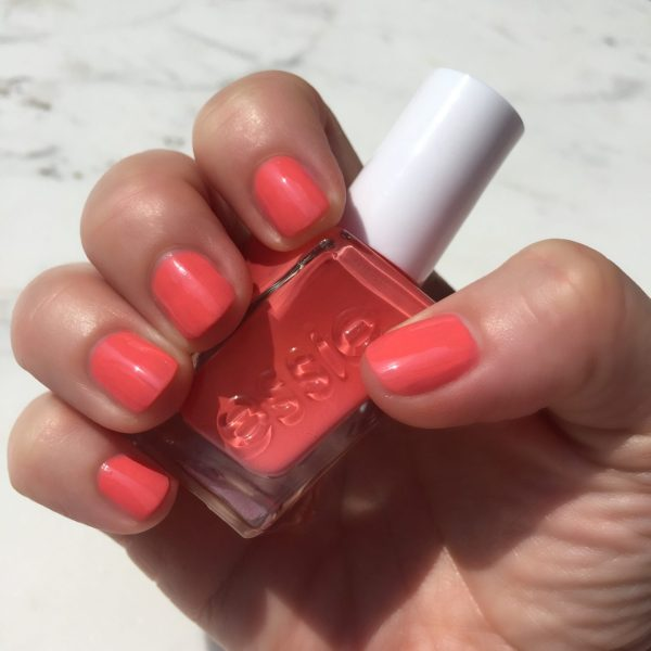 """Essie Gel Couture """"on the list"""" is the perfect orange-y coral shade and it makes me happy to look at it!"""