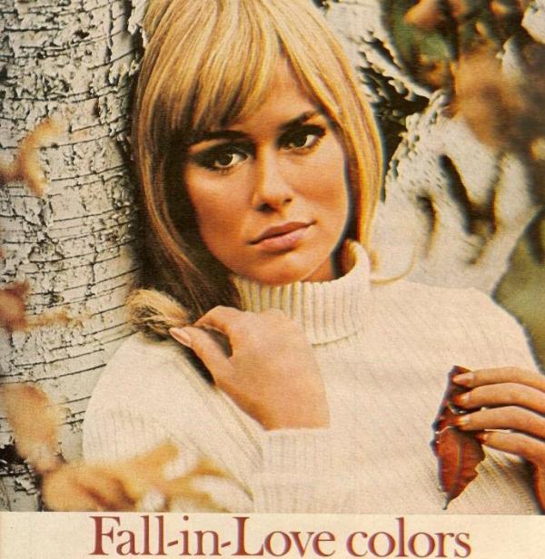 vintage beauty ad fall autumn