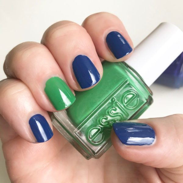 essie all the wave with on the roadie accent nail & bottle