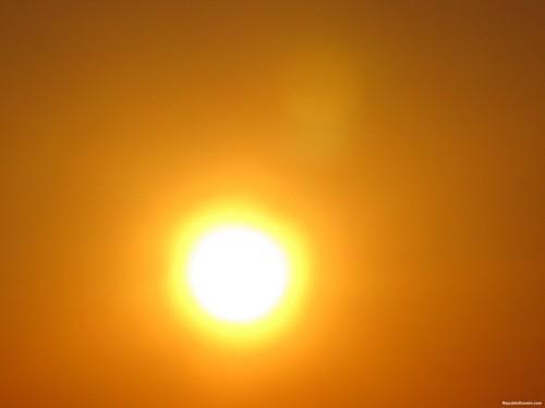 hot sun on sand