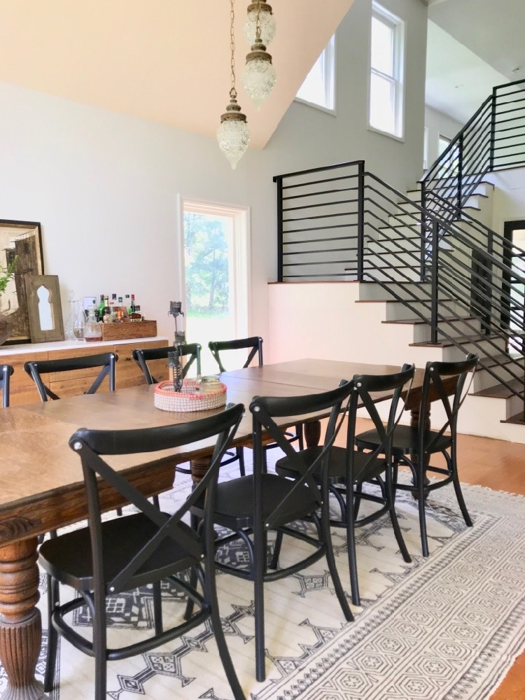 Our Finished Staircase With Horizontal Stair Railing Daly Digs   Black Metal Railing For Stairs   Rail   Double Basket   Kid Safe   Residential   Modern