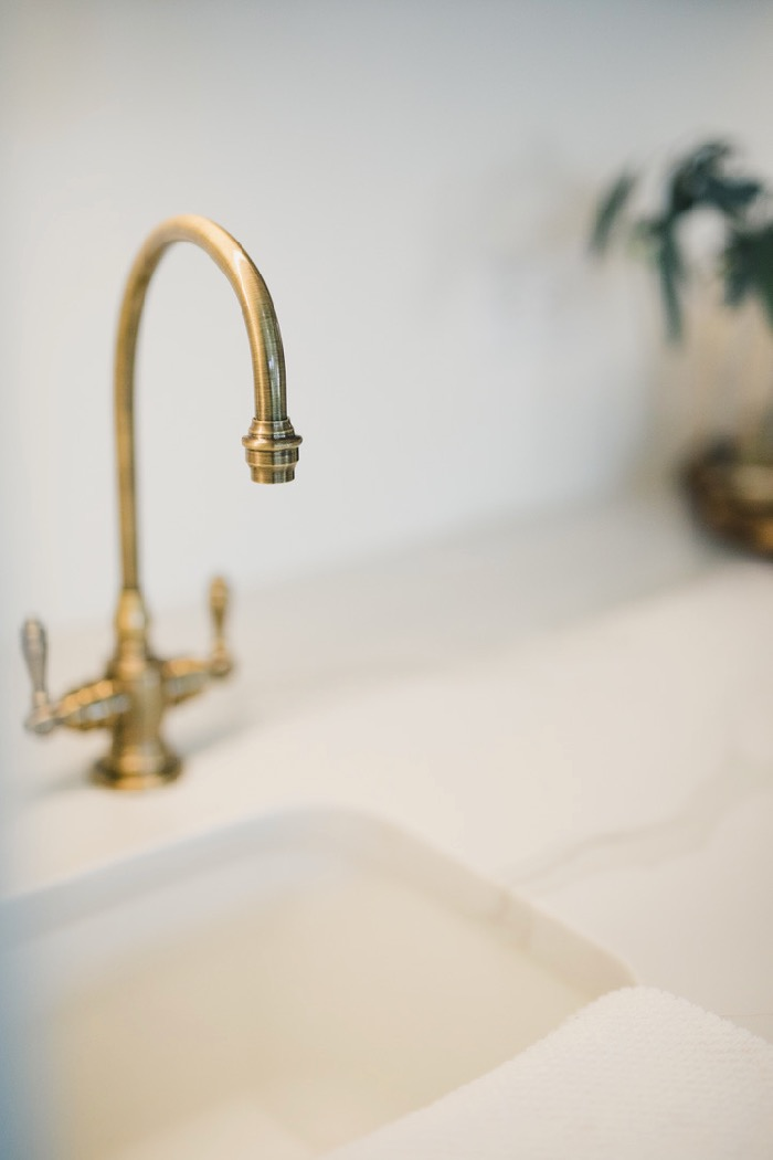 wet bar sink and brass faucet daly digs