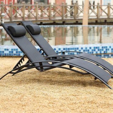 chaise longue transat et hamac