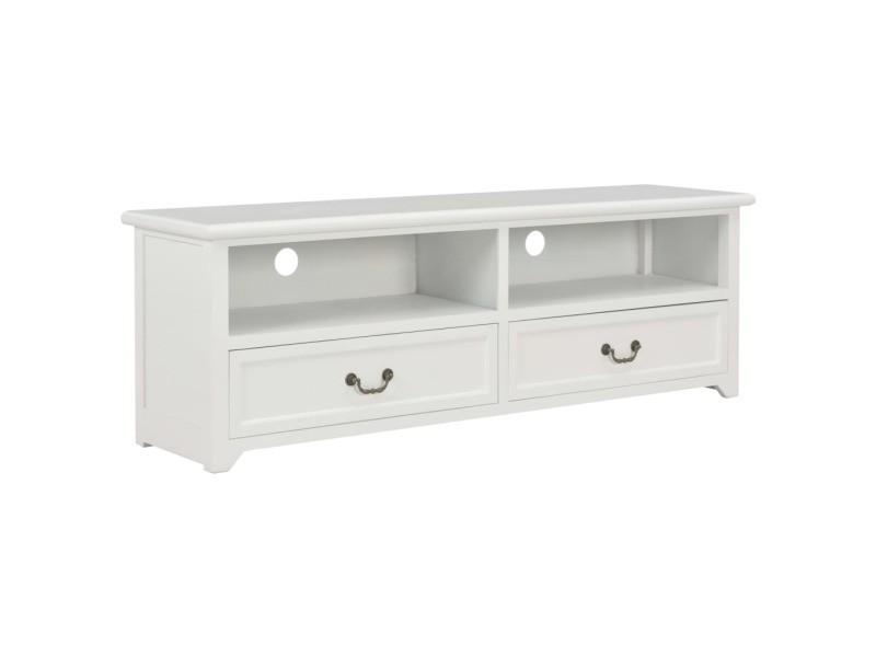 vidaxl meuble tv blanc 120x30x40 cm bois
