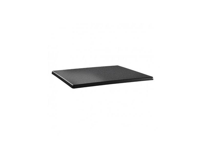 plateau de table rectangulaire 120 x 80 cm anthracite bois