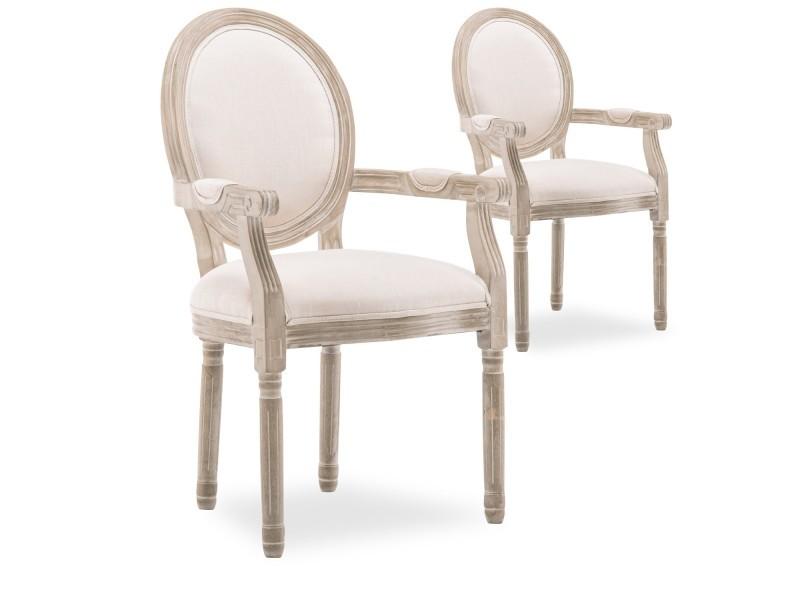 chaise medaillon beige