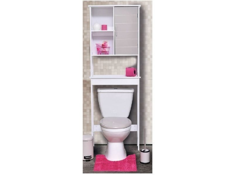 meuble wc taupe