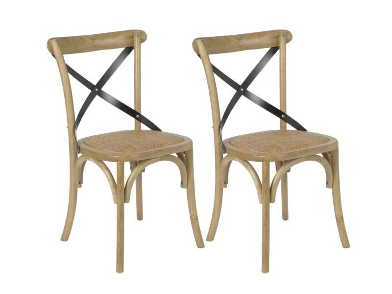chaise en paille conforama