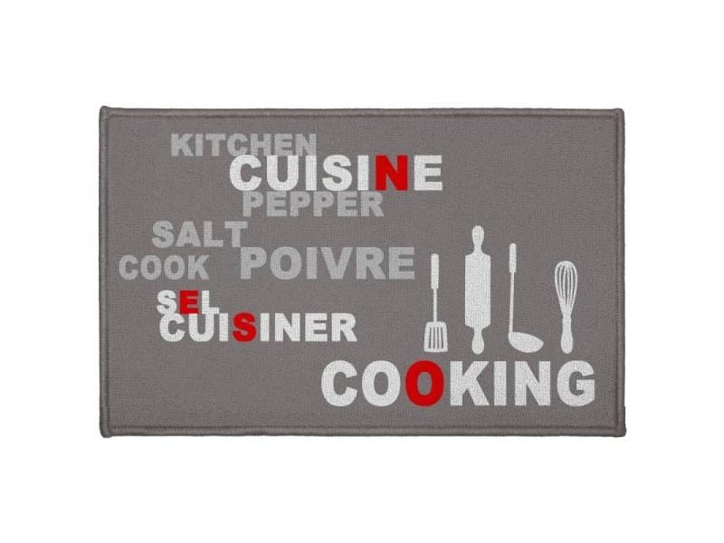 https www conforama fr decoration textile tapis tapis cuisine paris prix tapis de cuisine 22salt pepper 22 50x80cm gris p d68502545