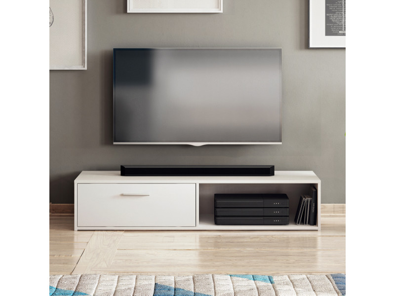 meuble tv blanc 140