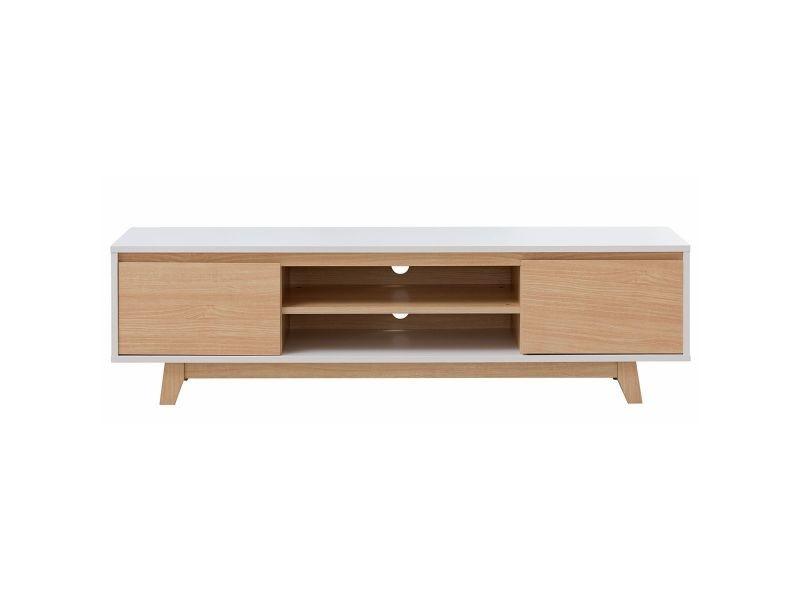 meuble bois blanc brillant