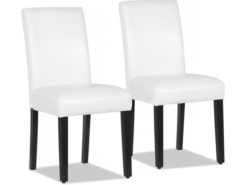 lot de 2 chaises luna blanc vente