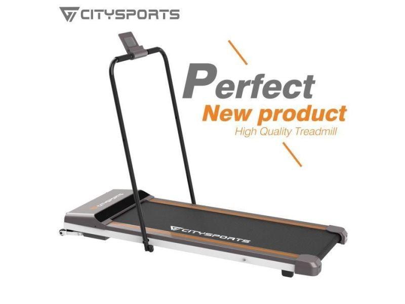 citysports tapis de course pliant fitness bureau domicile tapis de marche electrique 1 6 km h accoudoir wp1