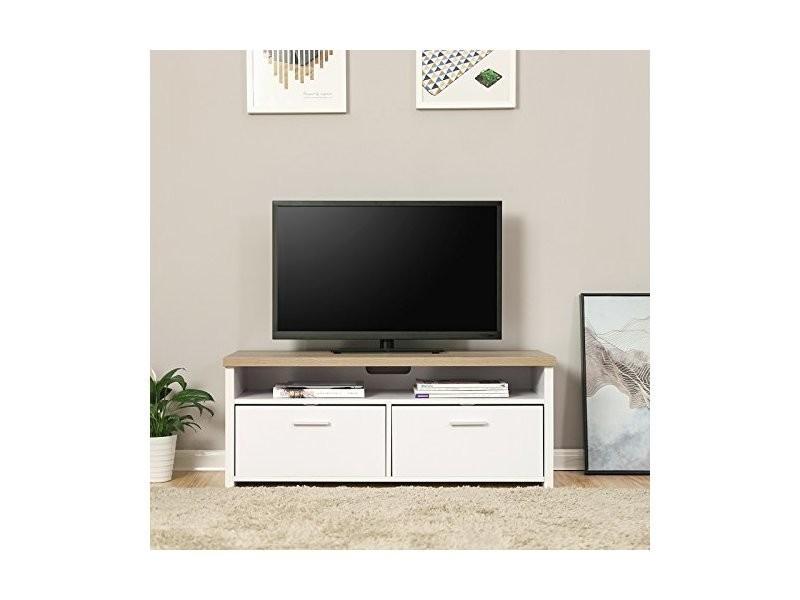 vasagle meuble tv avec compartiments et